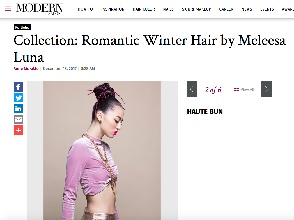 Modern Salon features Winter