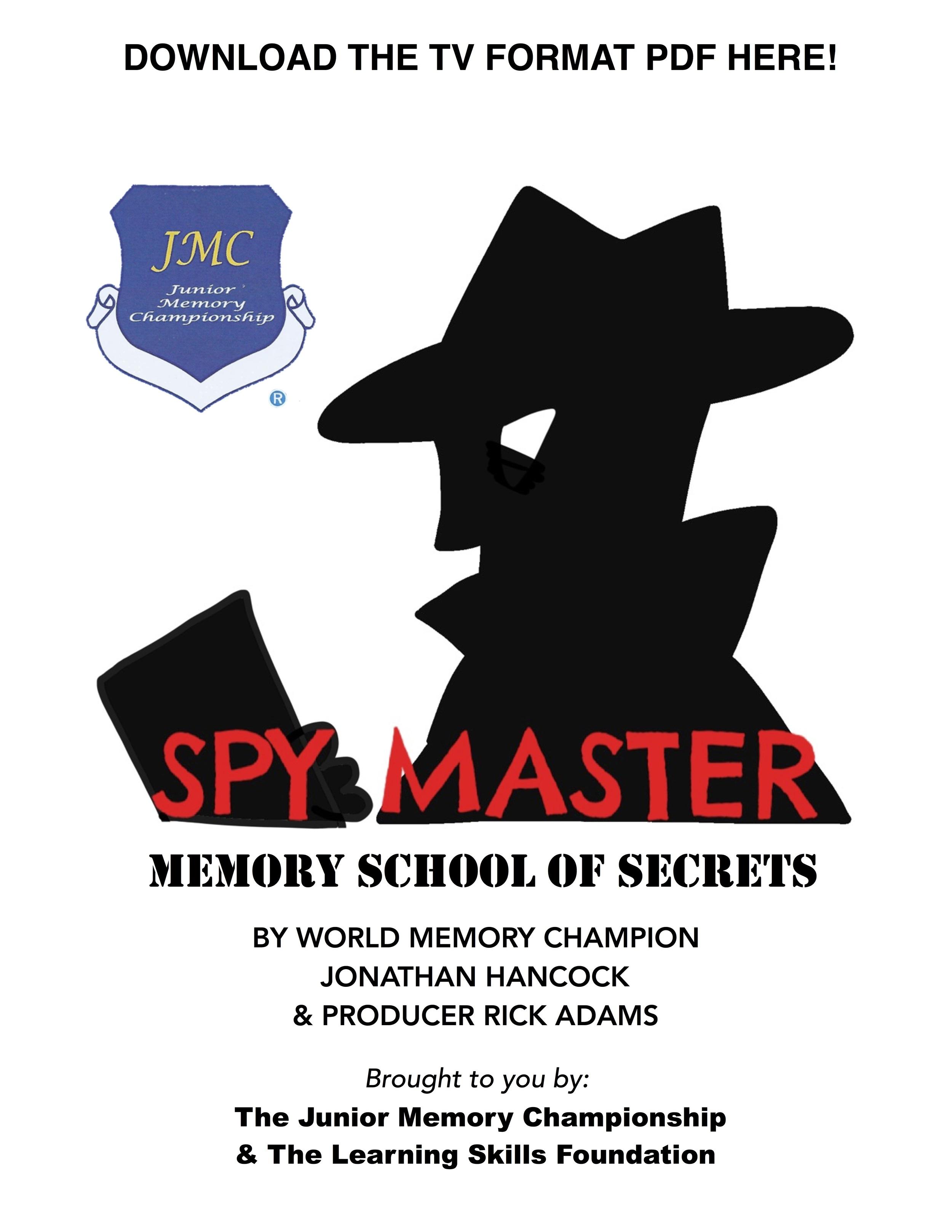 "DOWNLOAD ""SPY MASTER"" MEMORY SCHOOL PDF"