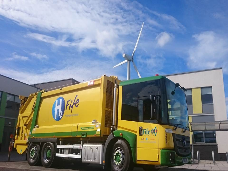 Fife's World First With Hydrogen Dual-Fuel Refuse Collection Vehicle in Methil