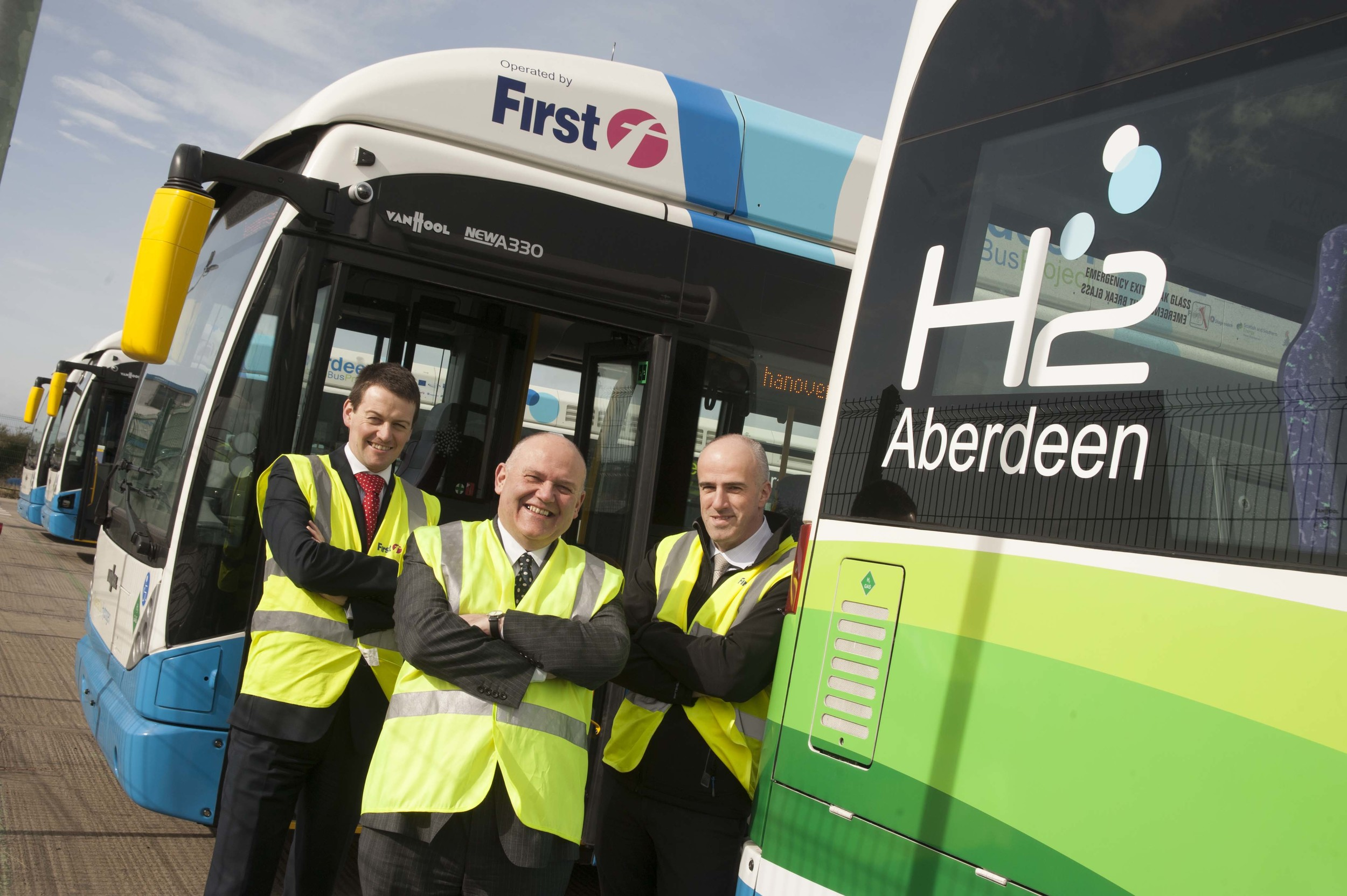 Aberdeen's fleet of 10 hydrogen fuel cell buses operated by First Group and Stagecoach