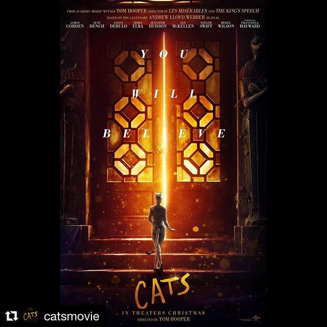 Here it is. A pleasure to have been involved in this production. A world class group of dancers and performers - head to @catsmovie to see the full trailer 🐱 #Repost @catsmovie (@get_repost) ・・・ One night, one chance. #CatsMovie