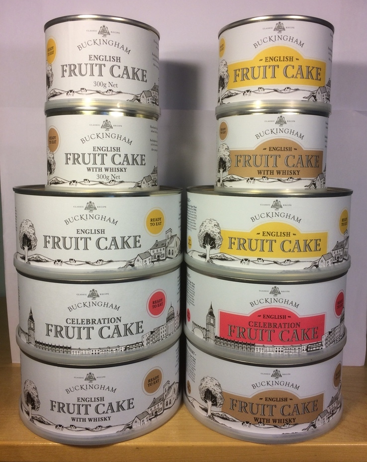 January 2017 - We have been experimenting with adding colour panels to the labels. The aim is to improve differentiation on the shelf when the coloured lids are hidden. (The tins on the left are current labels. The tins on the right are the new prototypes).