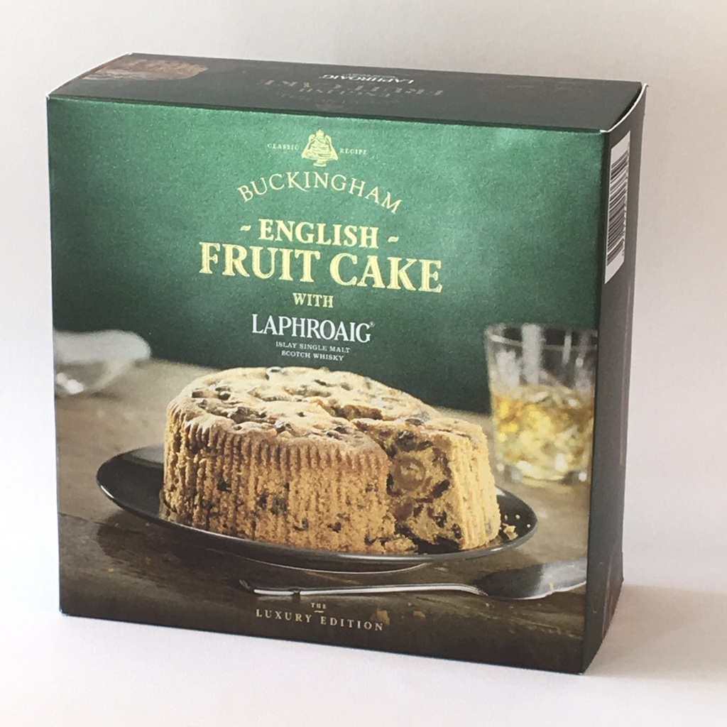 February 2019 - One of the ideas we follow up on after ISM is cakes favoured with famous name alcohols. We do a test baking with the very distinctive Laphroaig® Islay Single Malt Whisky. This whisky has a strong smoked peat flavour. It certainly made a fruit cake with an 'interesting' taste. We mock up some packaging and ask some clients to try it. Watch this space…