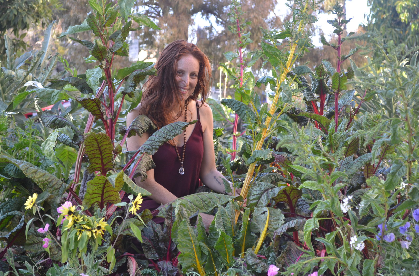 Our Head Earthling,Jill Volat in one of her nonprofit's urban farms. Photo by Stacey Lindsey