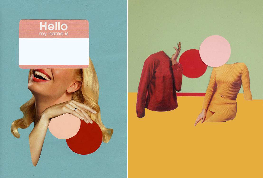 commission analog collage ELLE magazine