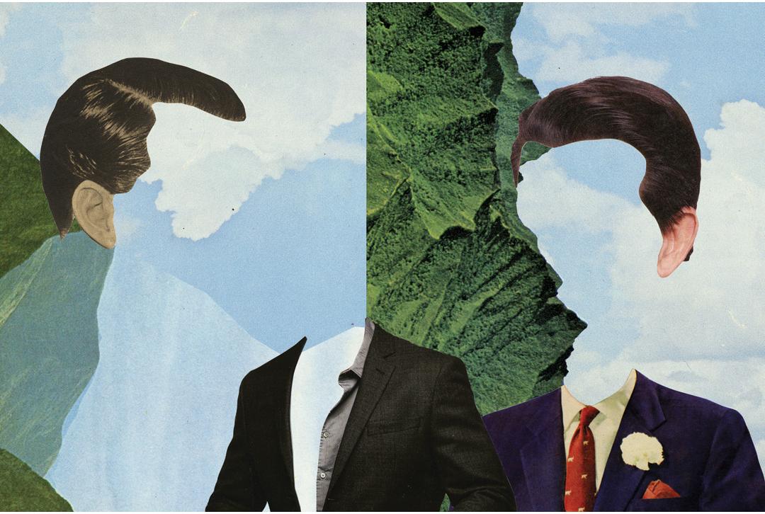 Him, analog collage, digitally finished.