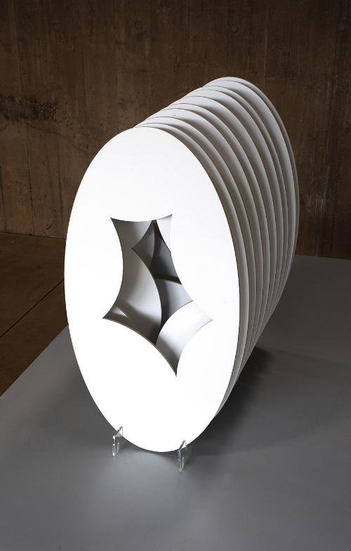 "Ovals multiple 2016. Cardboard.63cm x34cm.(25""x 13"")"