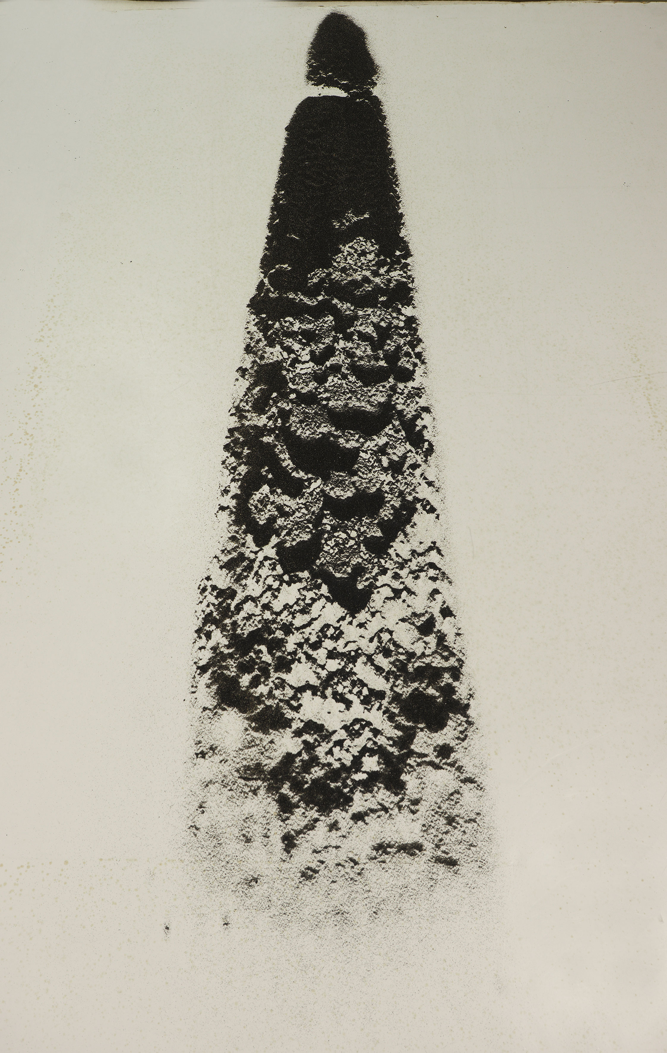 Untitled, 2017. Black volcanic sand drawing.