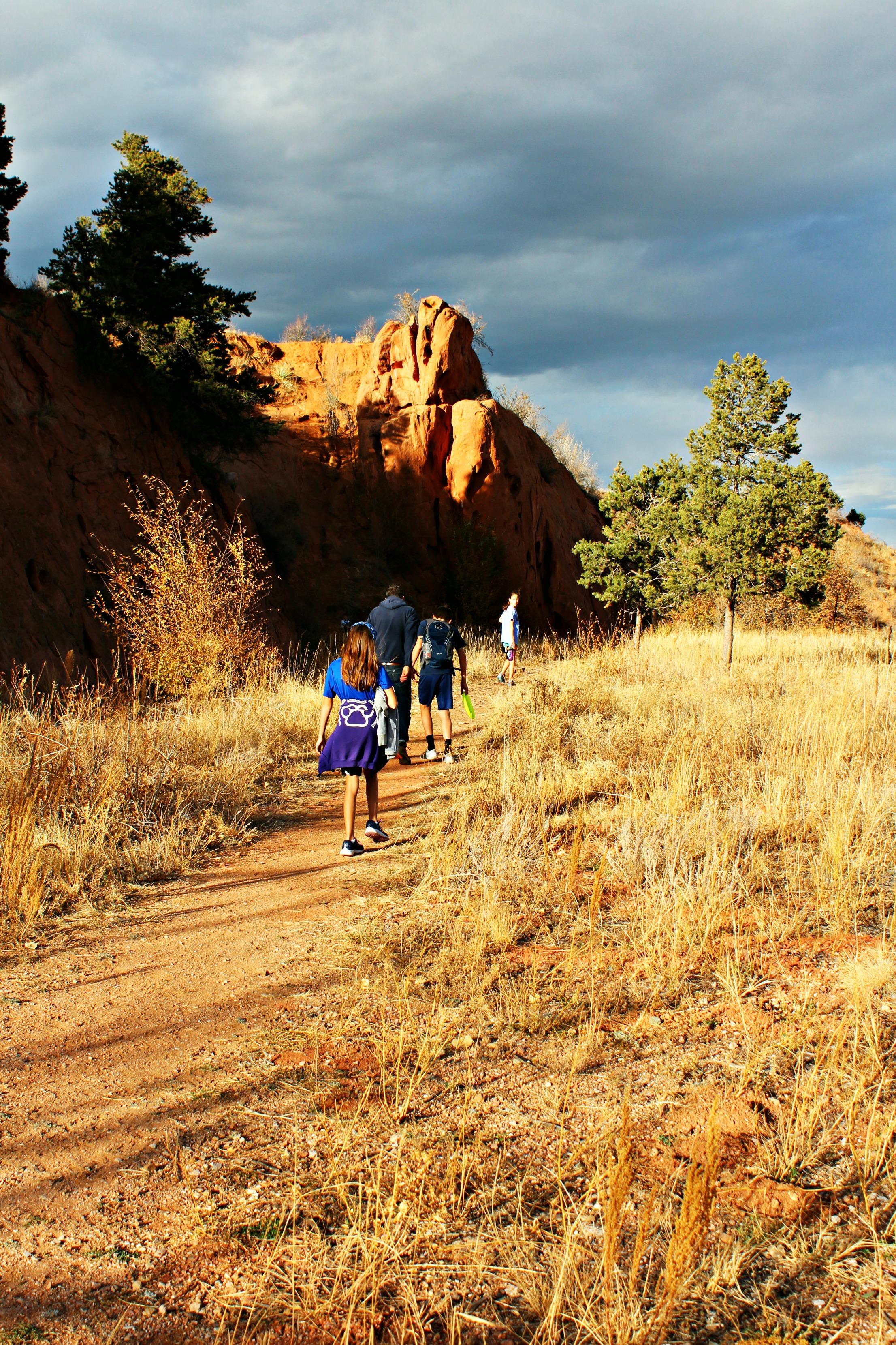 Hiking red rock up trail.jpg