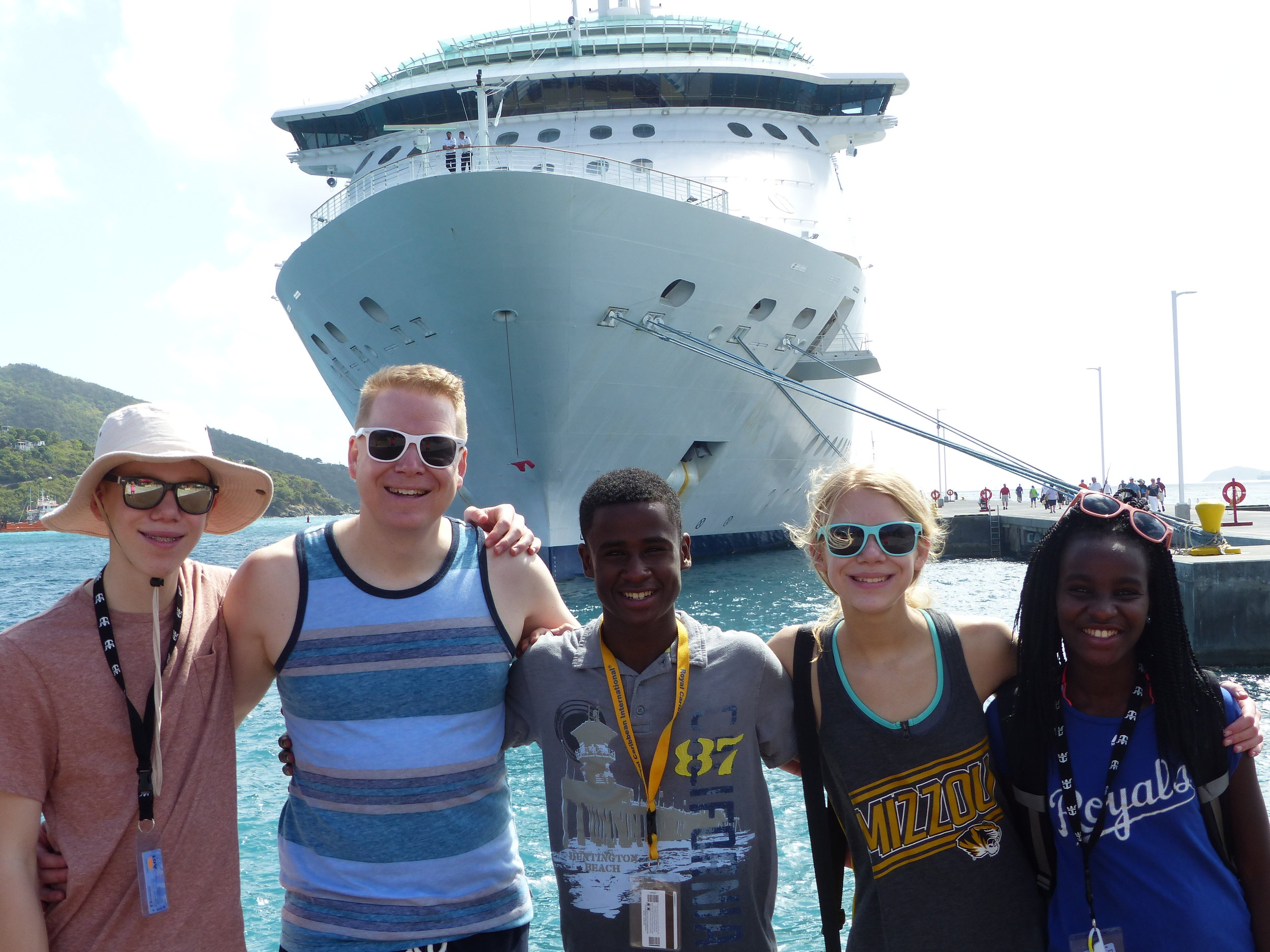 family-outside-cruise-ship-tortola