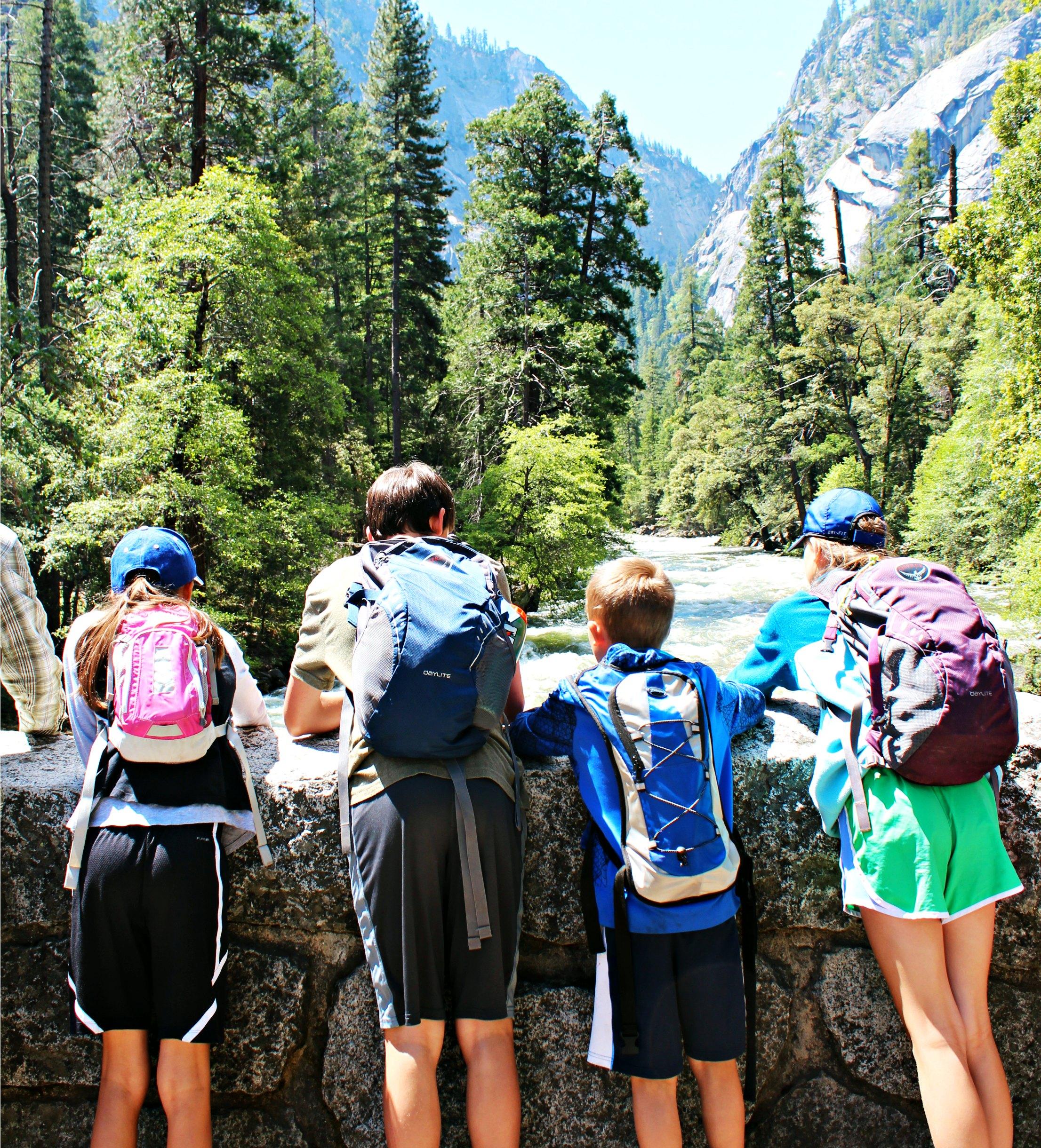 kids-foot-bridge-merced-river-mist-trail