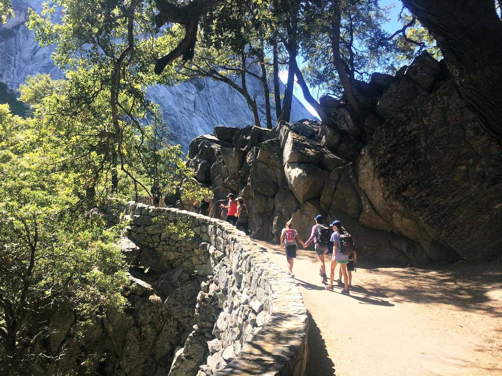 paved-section-mist-trail-yosemite