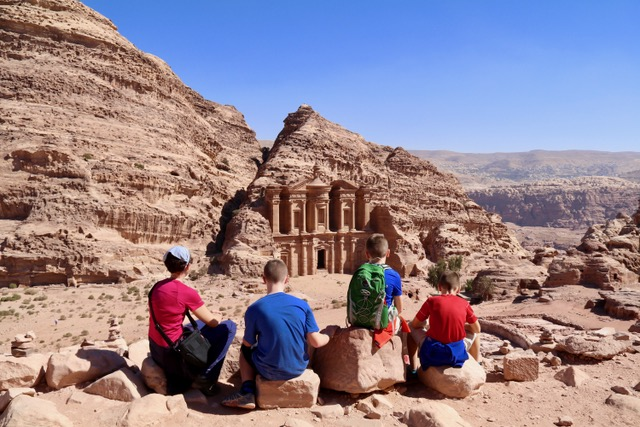 petra-monastery-jordan-with-kids