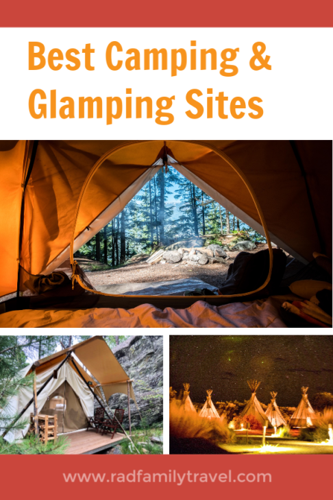best camping glamping sites