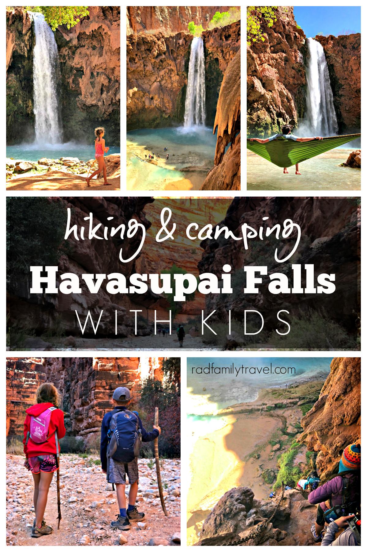 havasupai falls arizona with kids