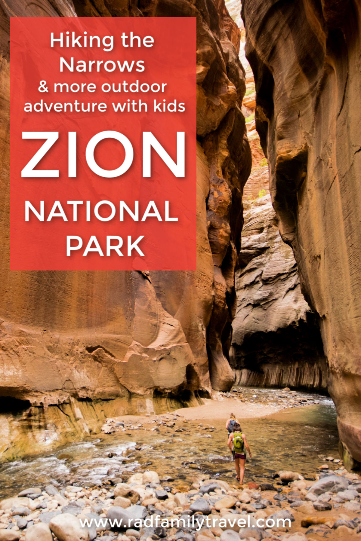 hiking narrows with kids zion