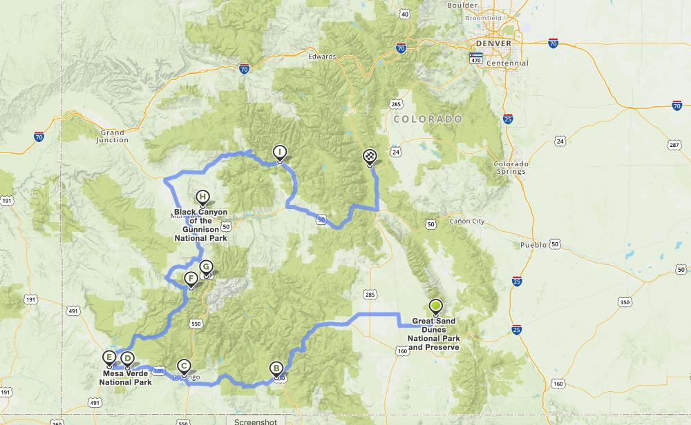 southwest-colorado-road-trip-mapquest