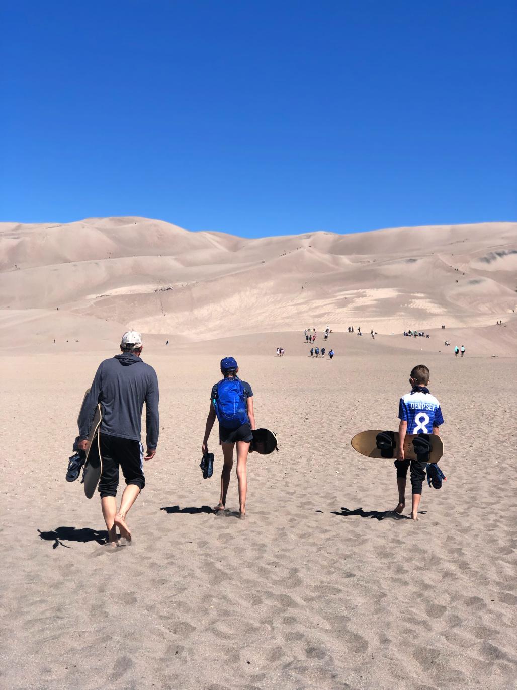 sledding-great-sand-dunes-national-park
