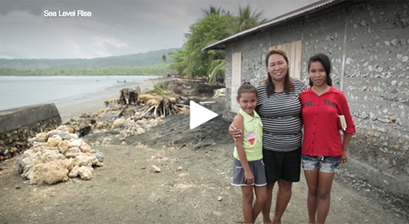 "Click to go to a page to watch ""Sea Level Rise"" - an interview with Ibu Neke."
