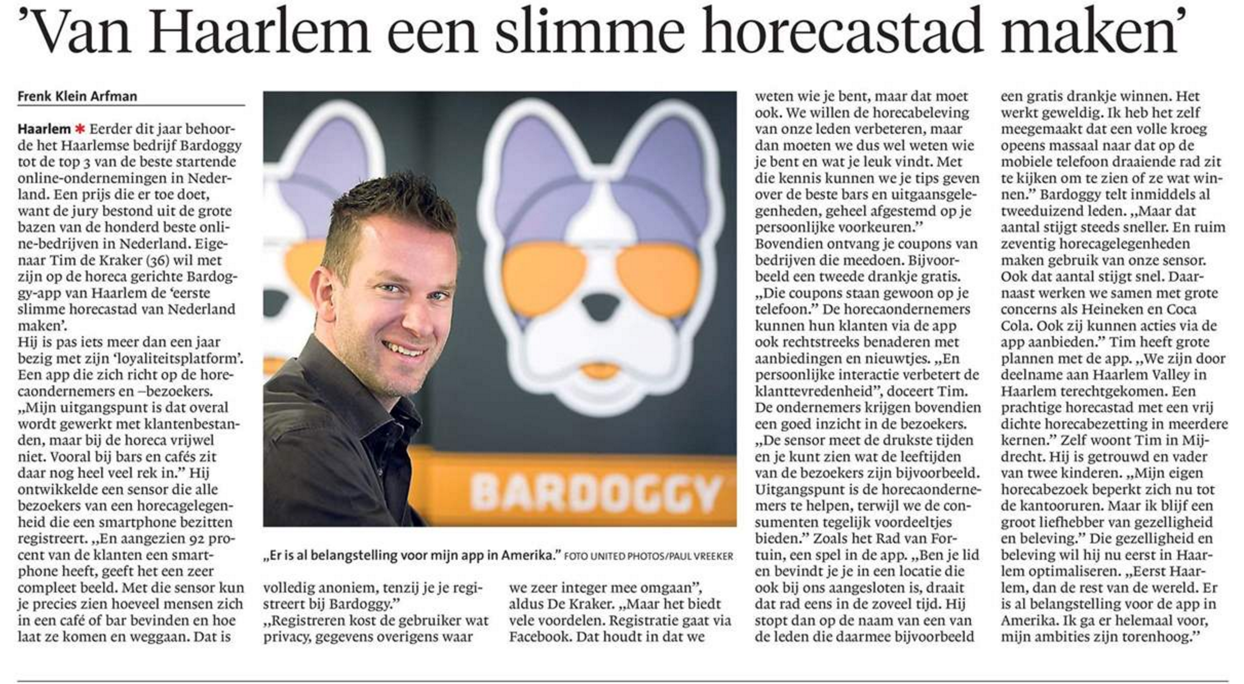 Haarlems Dagblad 11/05/16