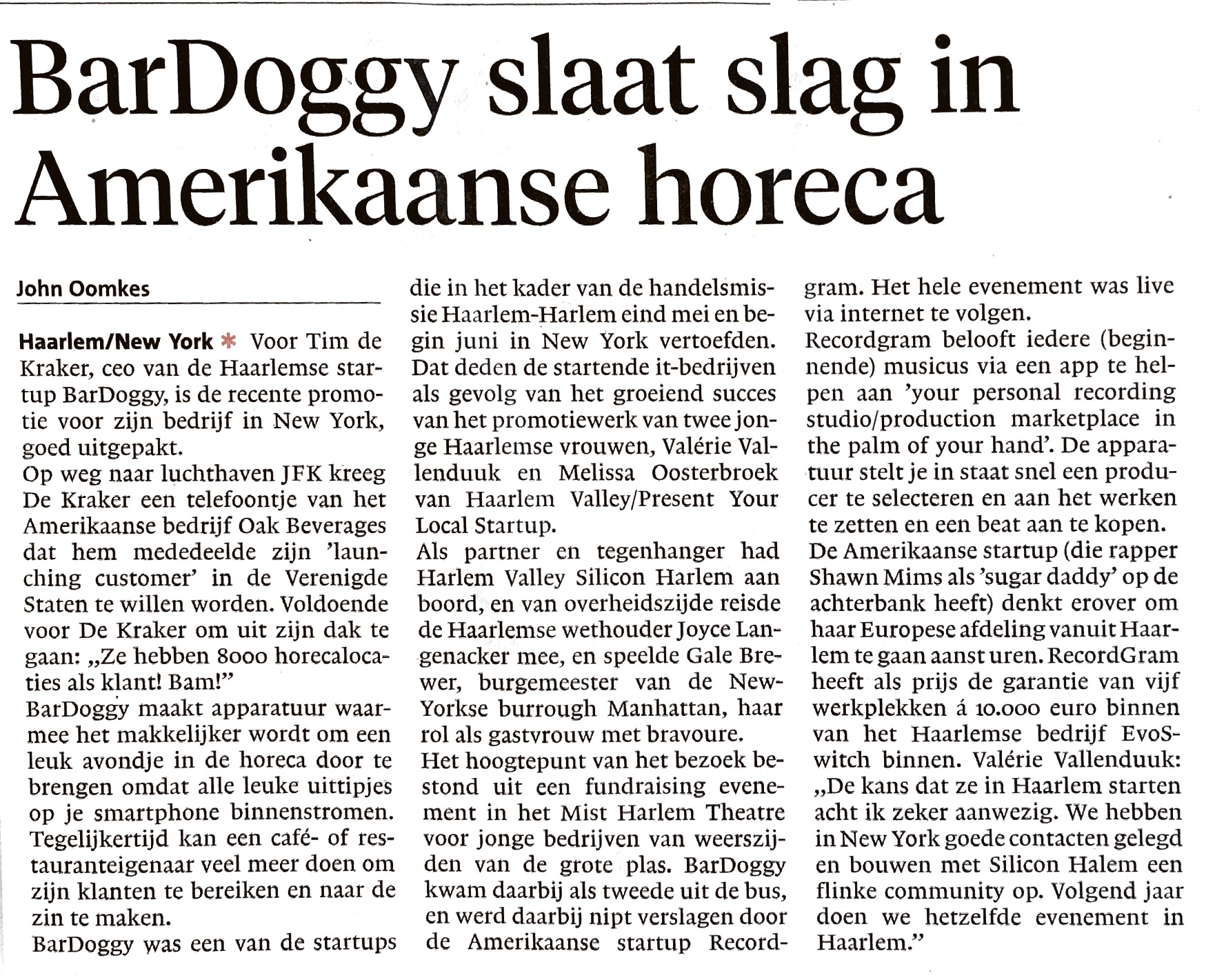 Haarlems Dagblad 07/06/16