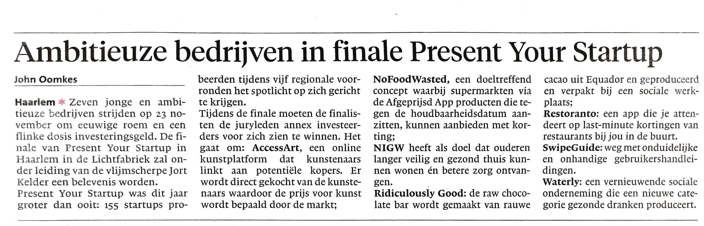 Haarlems Dagblad 05/11/16
