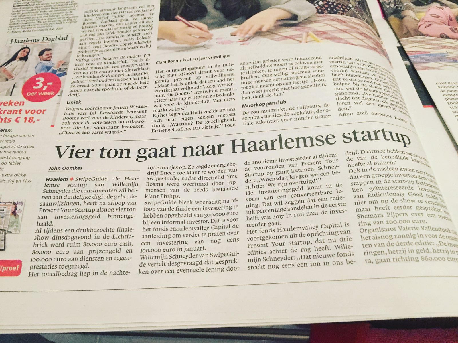 Haarlems Dagblad 25/11/16