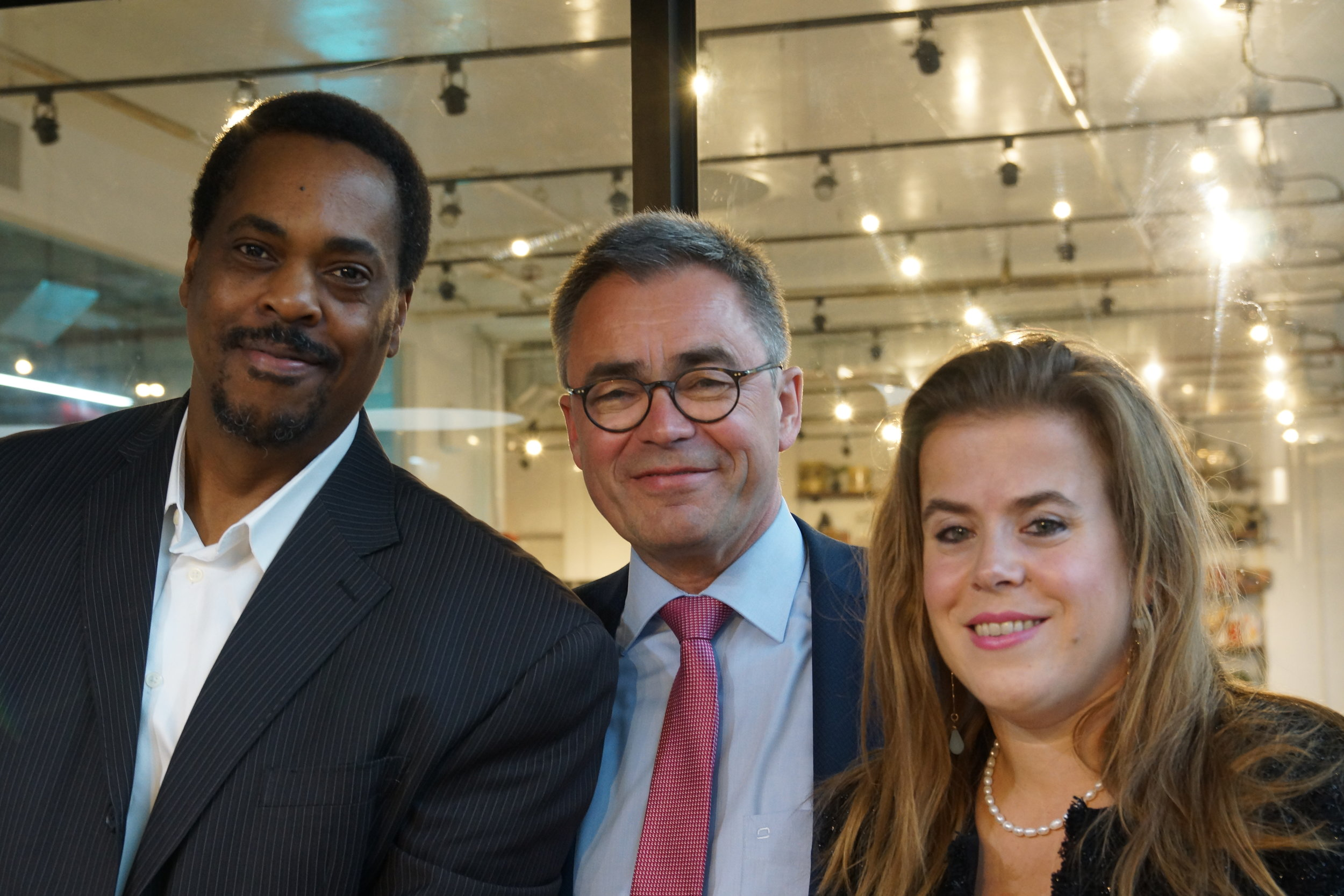 Clayton Banks (Silicon Harlem), Jos Wienen (Mayor of the City of Haarlem) & Valerie Vallenduuk
