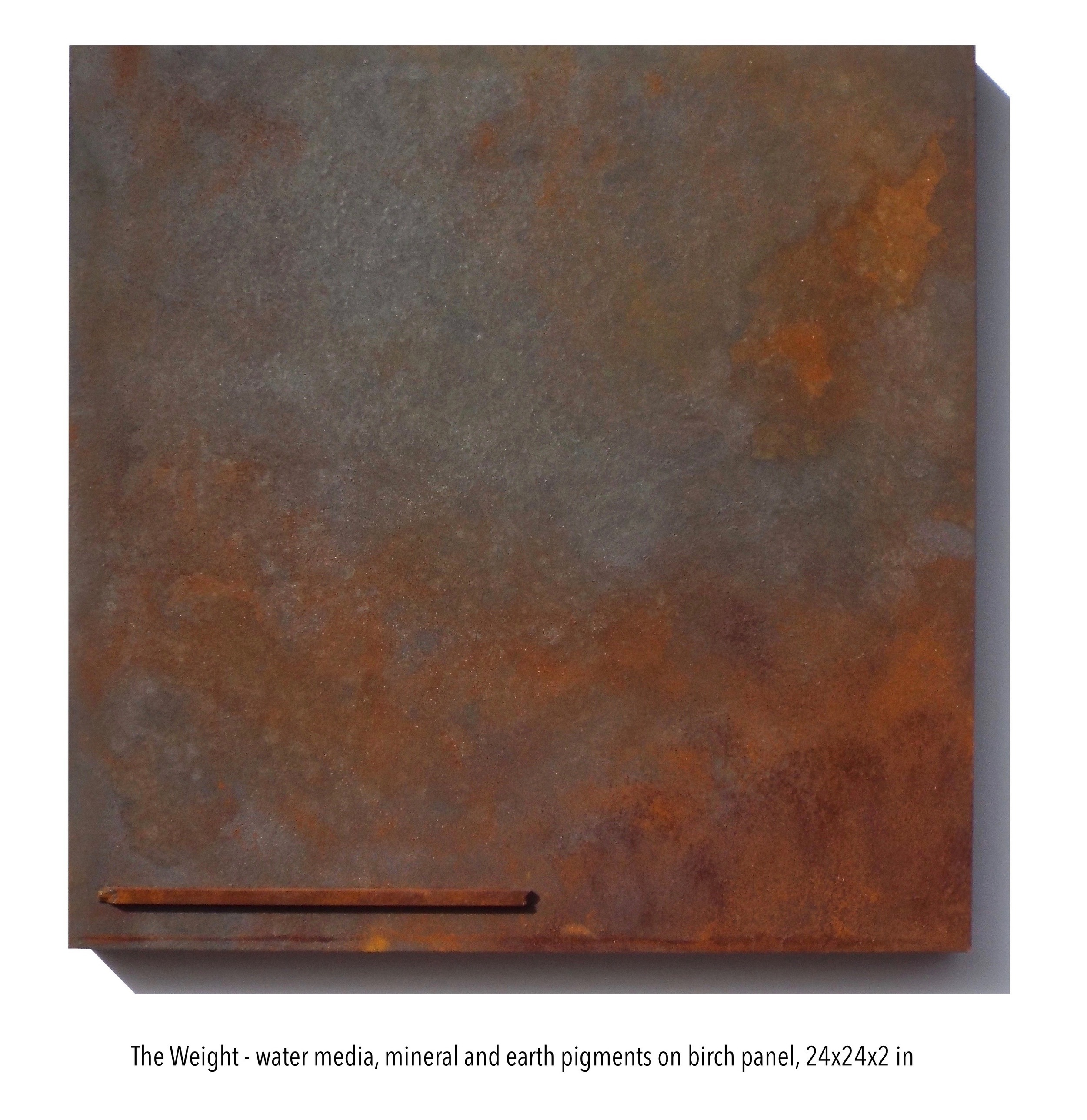 The Weight, water media & mineral pigments on panel, 24x24x2 in. (1).jpg