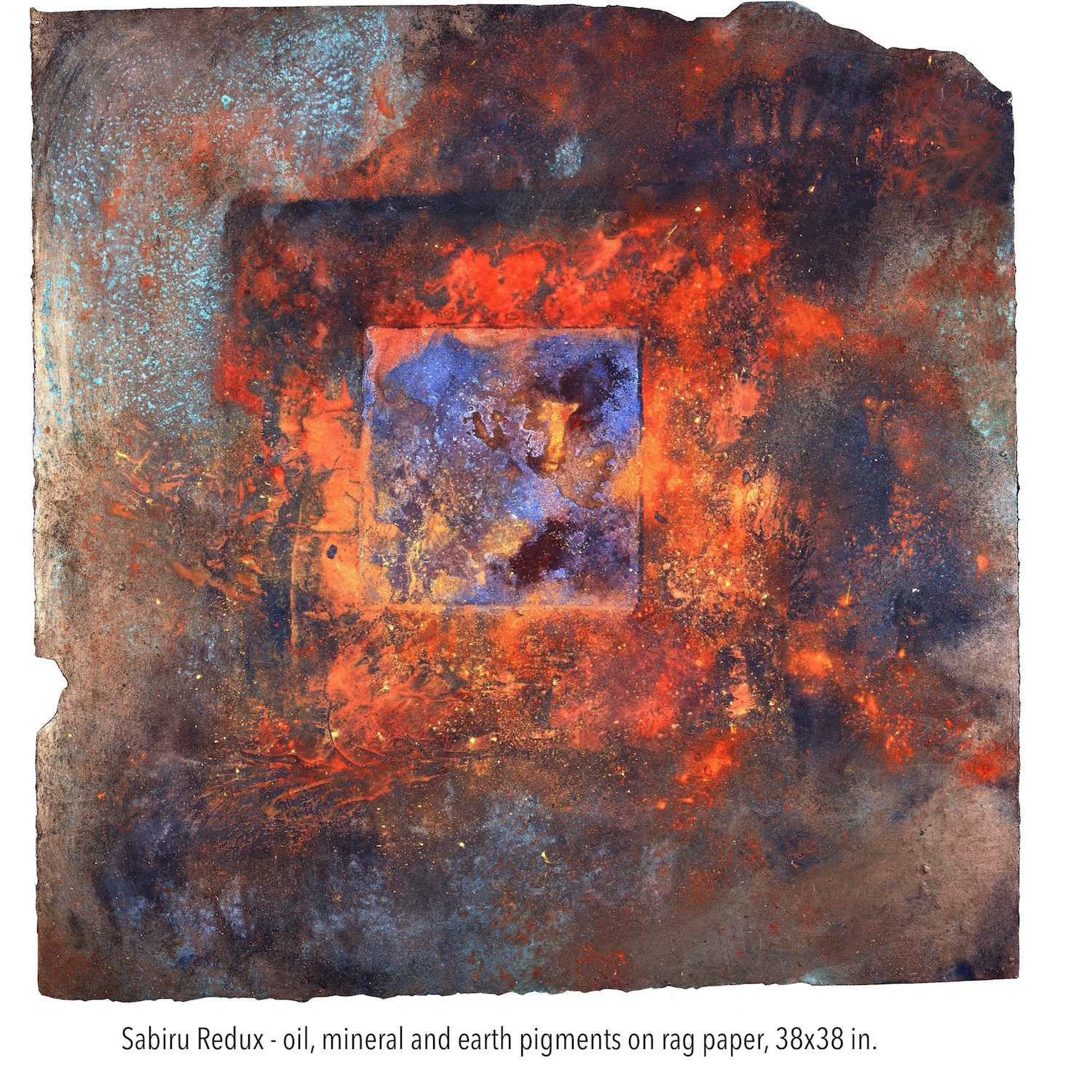 Sabiru Redux, oil, mineral and earth pigments on rag paper, 38x38 in. (1).jpg