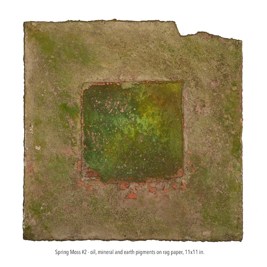 Spring Moss #2, oil, mineral and earth pigments on rag paper 11x11 in. (1).jpg