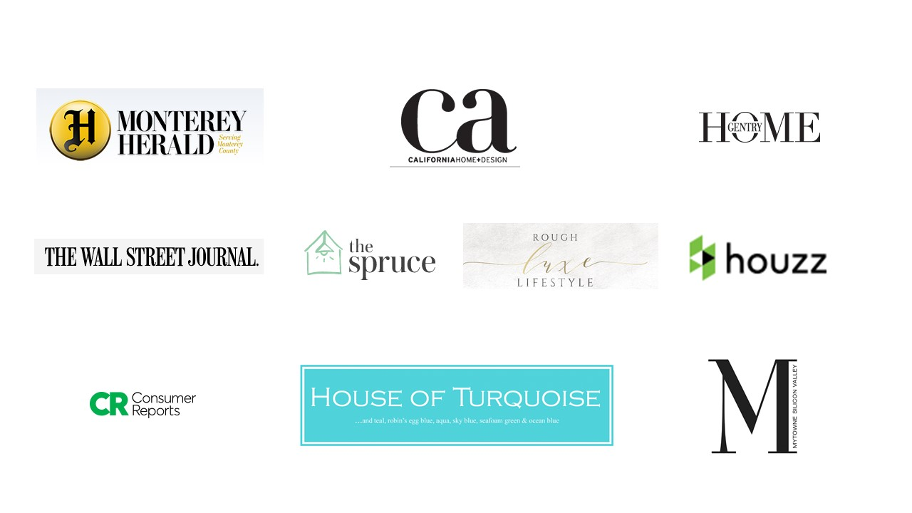 Just some of the design press that has featured our work!
