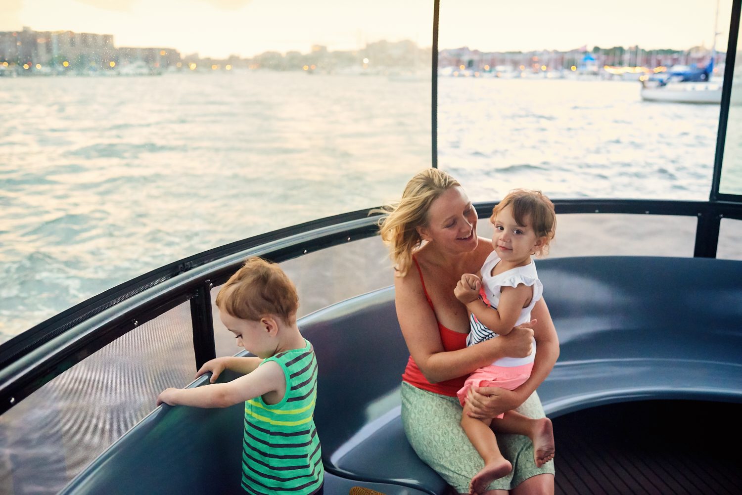 July 2018 Love Boat | Finn Jenn & Maeve onboard the Baltimore Water Taxi