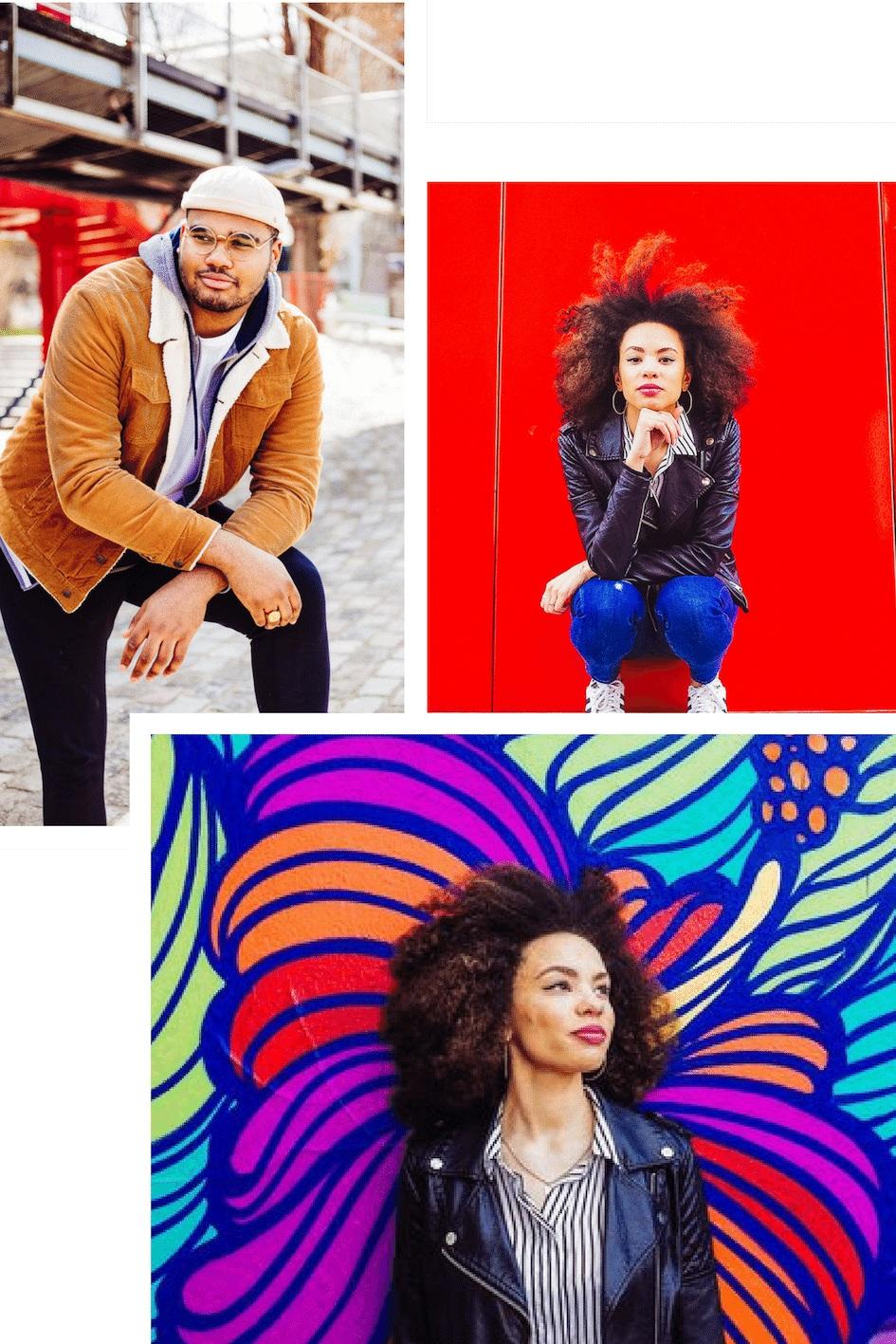 STREET - La plus pop de nos ambiances pour des photos qui marquent les esprits !On vous propose un cadre avec du peps à revendre. Il y aura des couleurs flamboyantes, des matériaux bruts, du street art pour des portraits qui ne manqueront pas de caractères.Effet whaou garanti !-L'ambiance Jungle est disponible pour toutes nos offres, en solo ou à plusieurs.