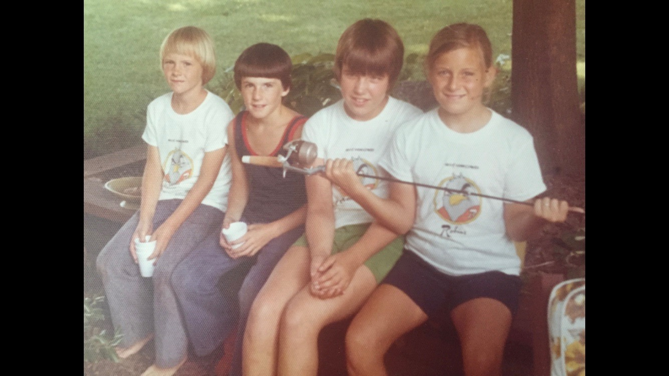 Cousins long ago. I'm the fisher-girl on the far right.