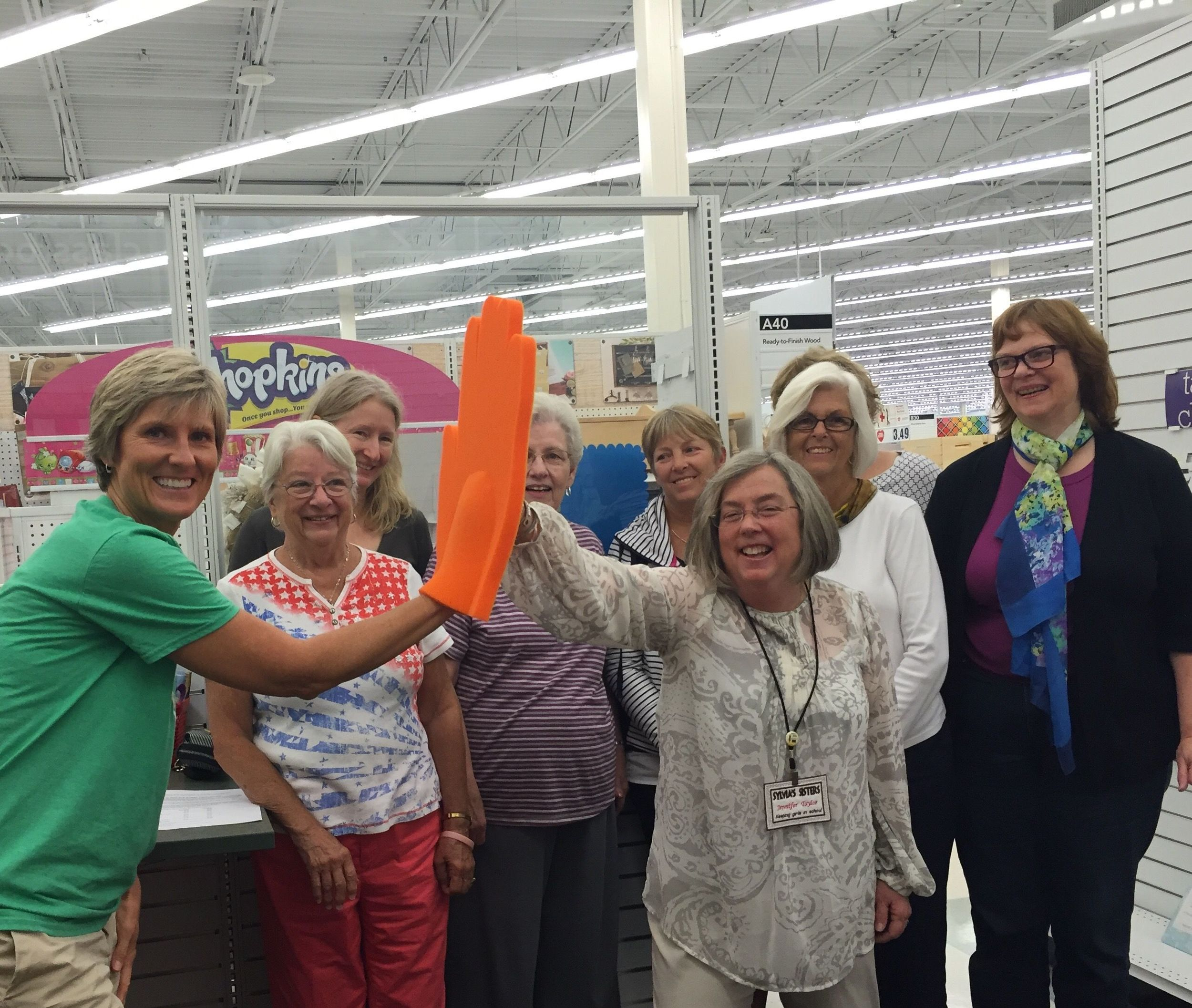 Sylvia's Sisters volunteers at the August board meeting