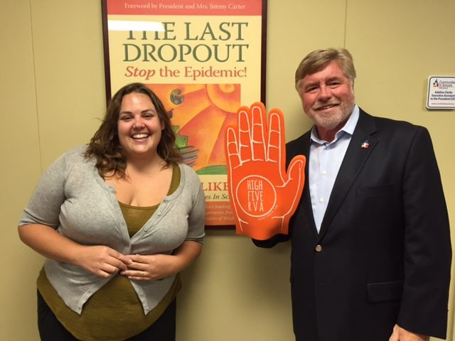 Sarah Beauchamp, Volunteer Manager, and Dr. Harold Fitrer, President and CEO