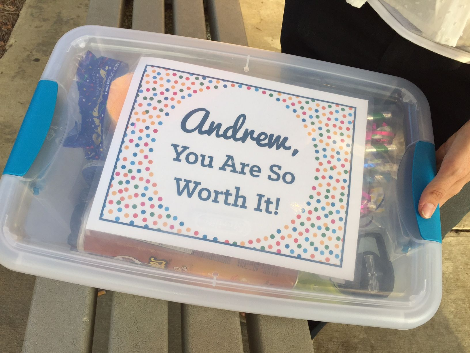 A Worthday Box for Andrew