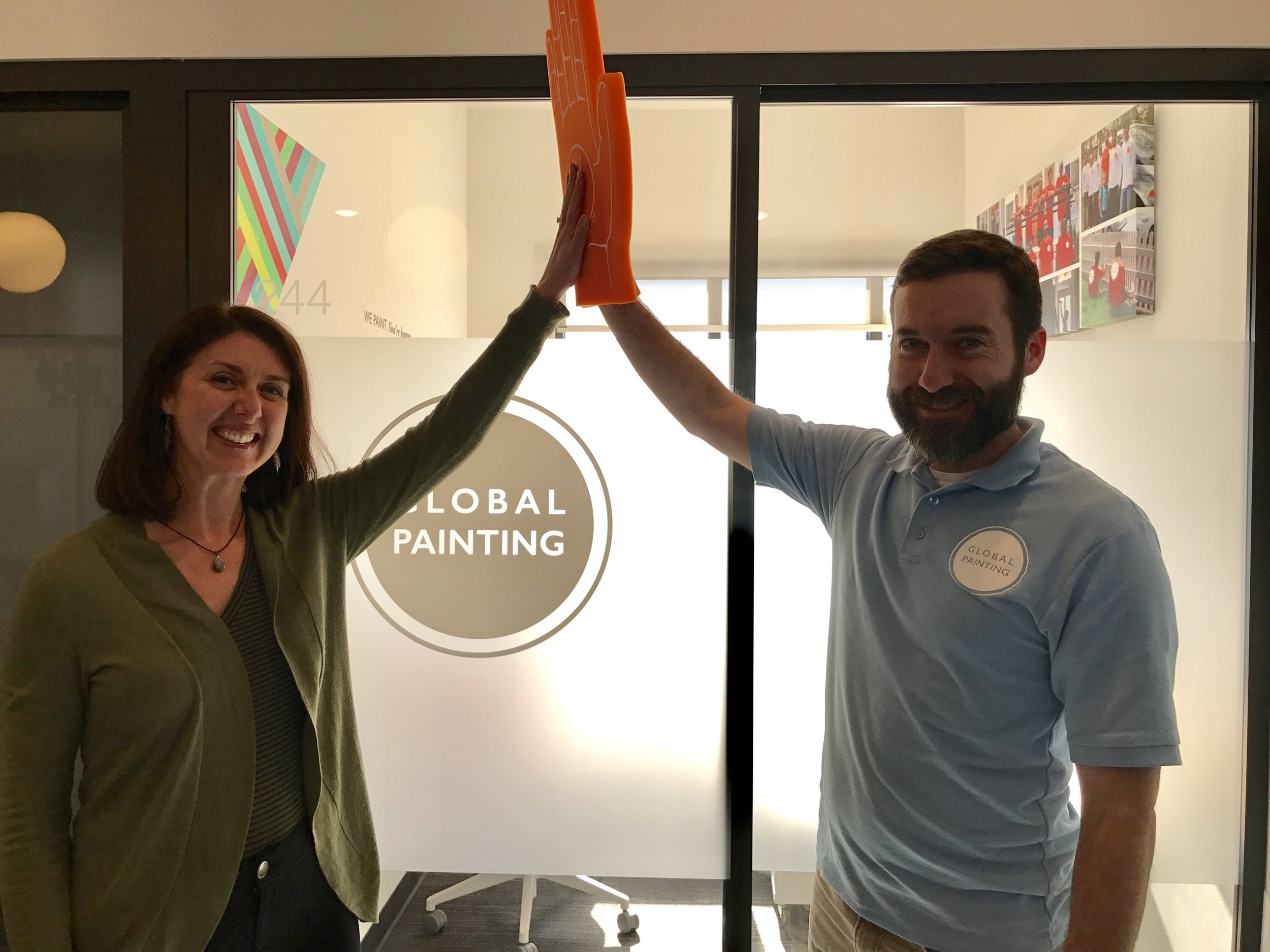 "If you thought it could not get any better, ReEstablish Richmond's founder, Patrick Braford, owns a company that provides job training for refugees. The tagline at  Global Painting  is ""We Paint. You're Happy."" This is how the world works best. When we all done what we can."