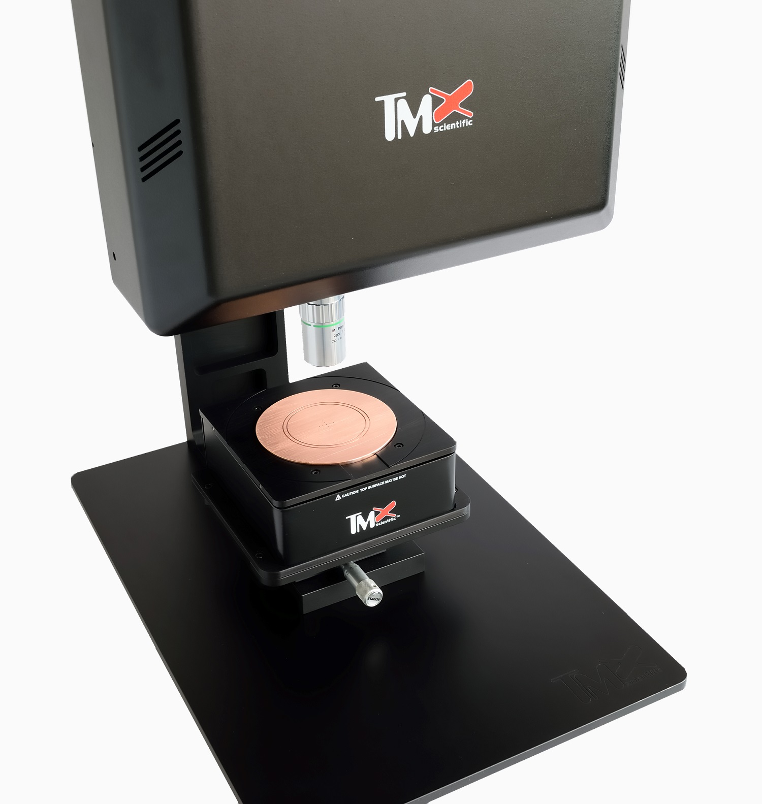 Transometer featuring a heated sample holder with manual movement.