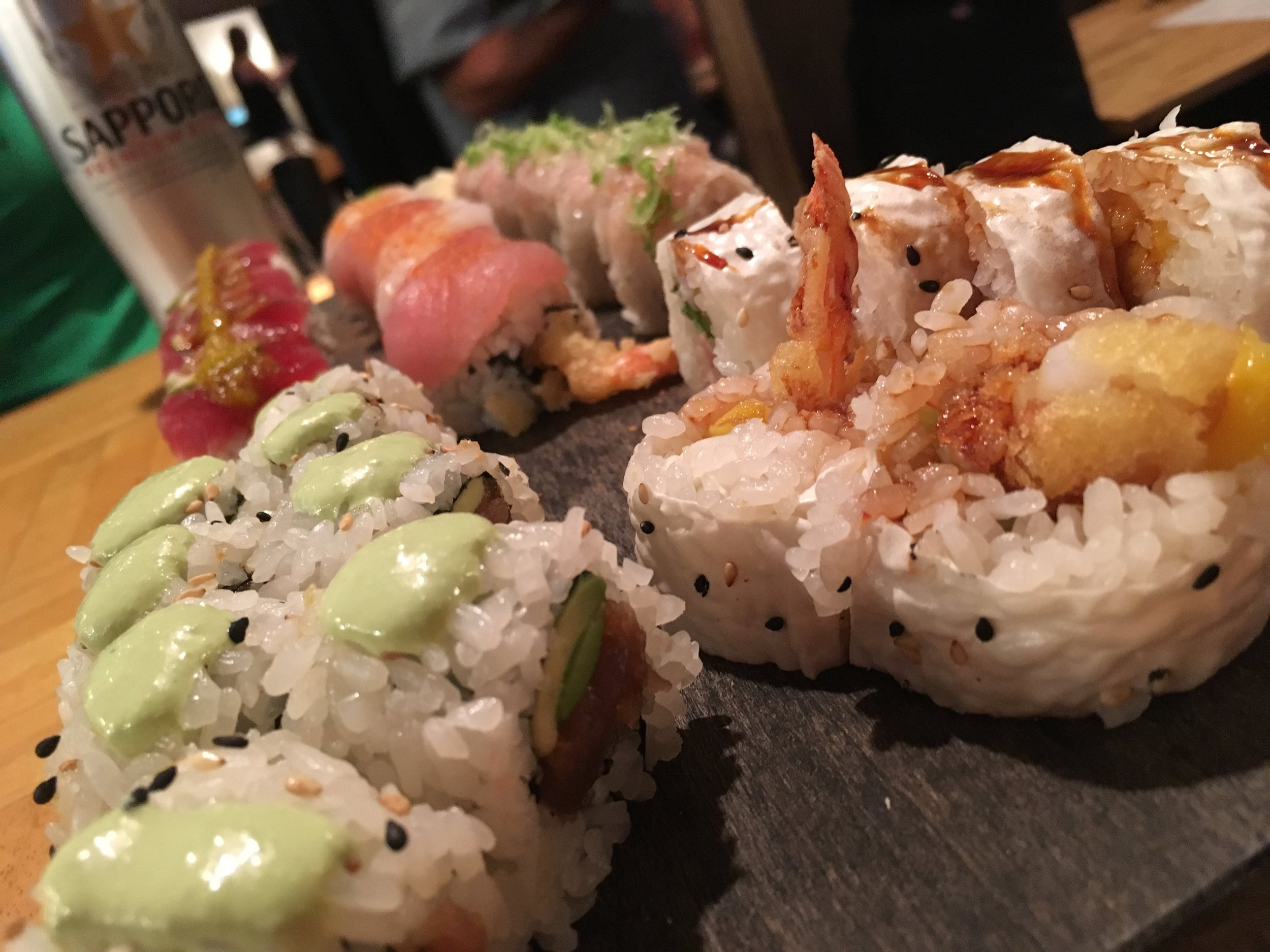 Yuki Yama selection of sushi rolls, the Executive, the green hornet, and the 84060