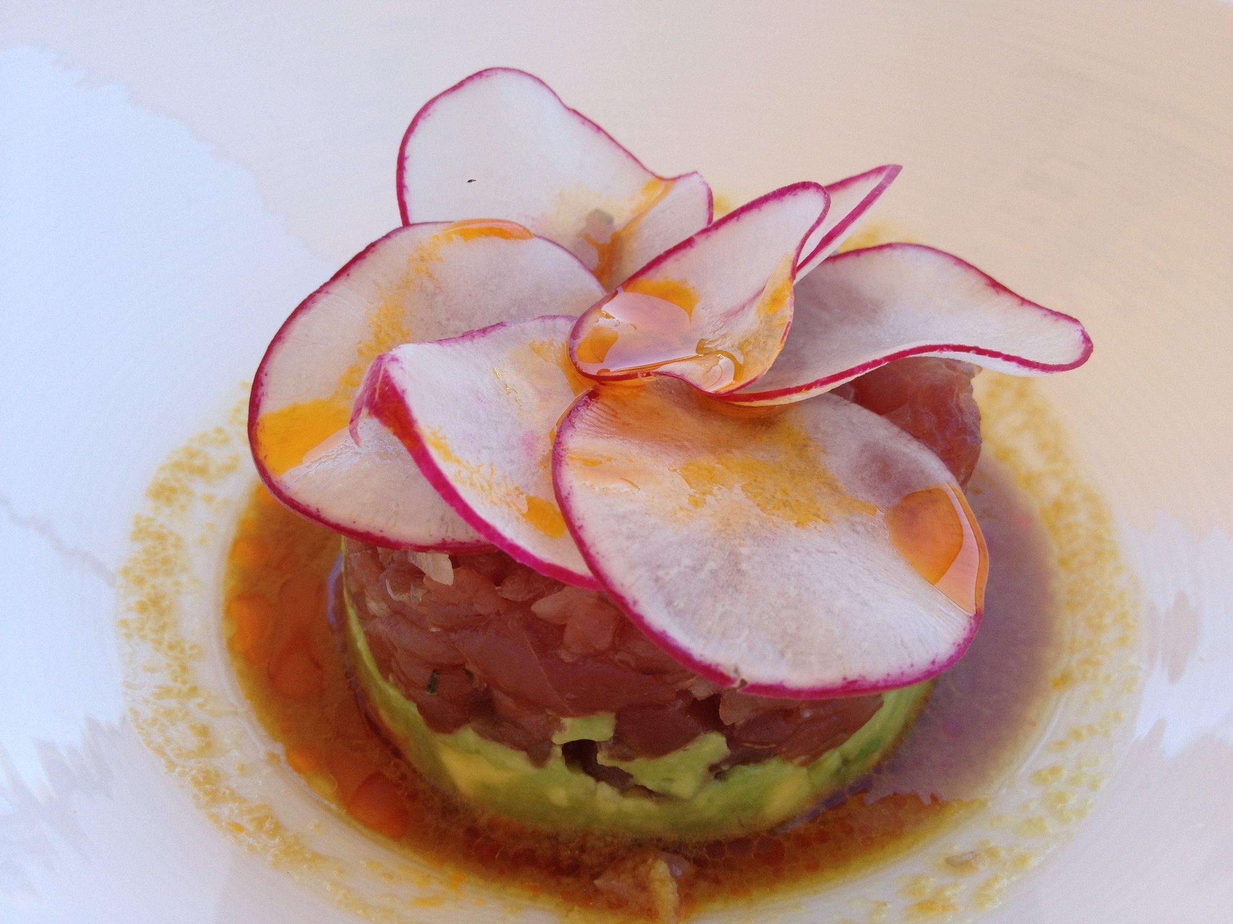 The Tuna tartare appetizer from St. Regis.