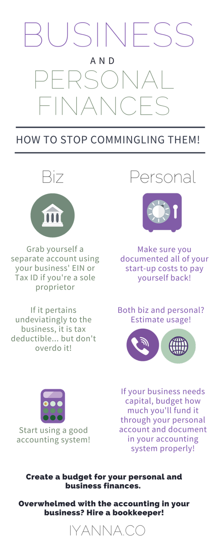 Stop Commingling Personal and Business Finances!