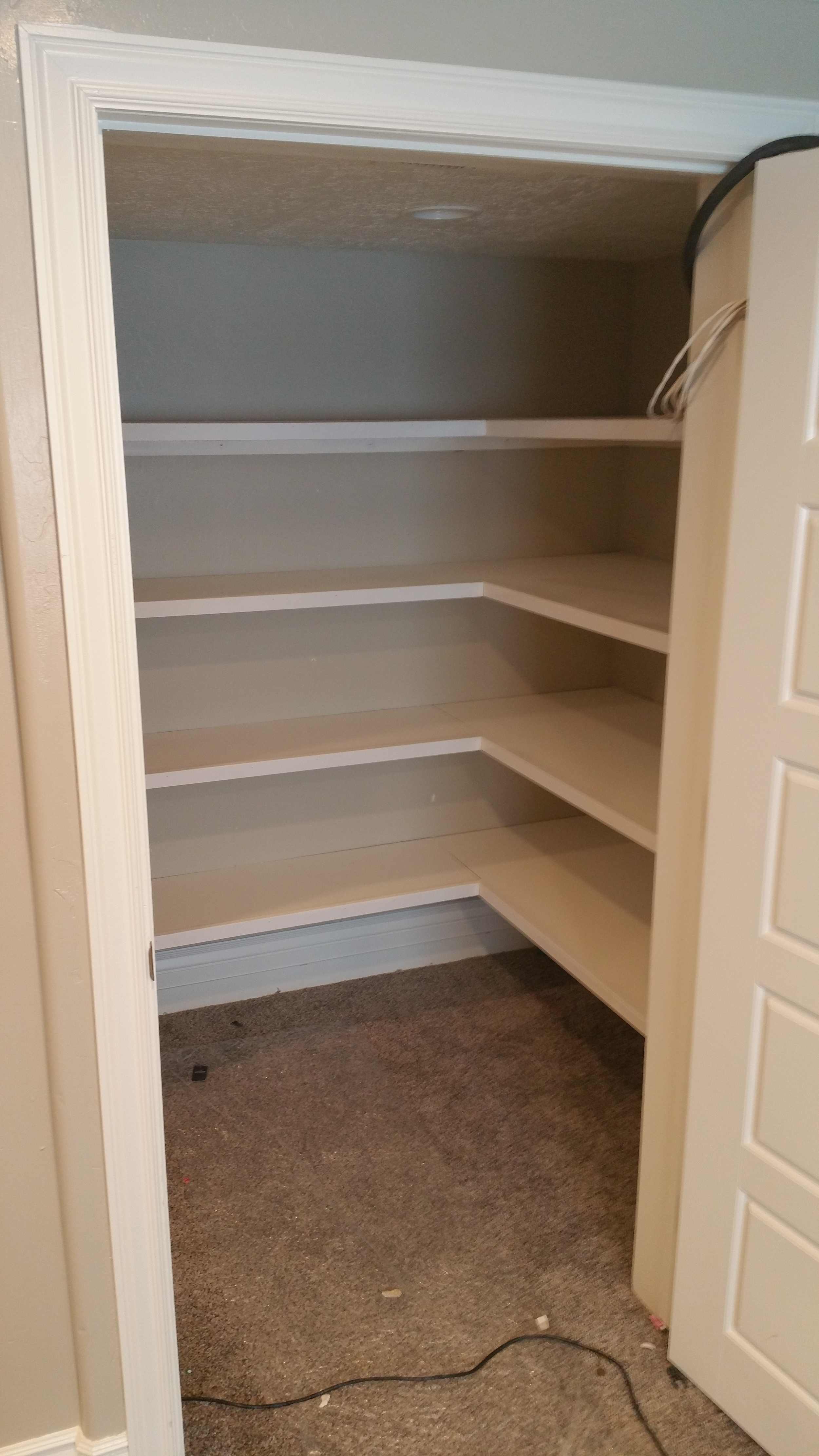 Closets or craft rooms