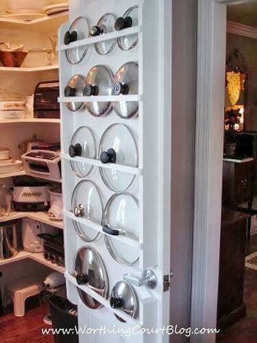 This is a great use of space and it is easy to find the lid you need!!  via  worthingcourtblog