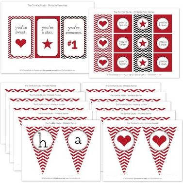 """Click on each image  to get access to the site. You can print all these free printables directly from each site. That makes it so much easier!! The above printables are from """"The TomKat Studio""""."""