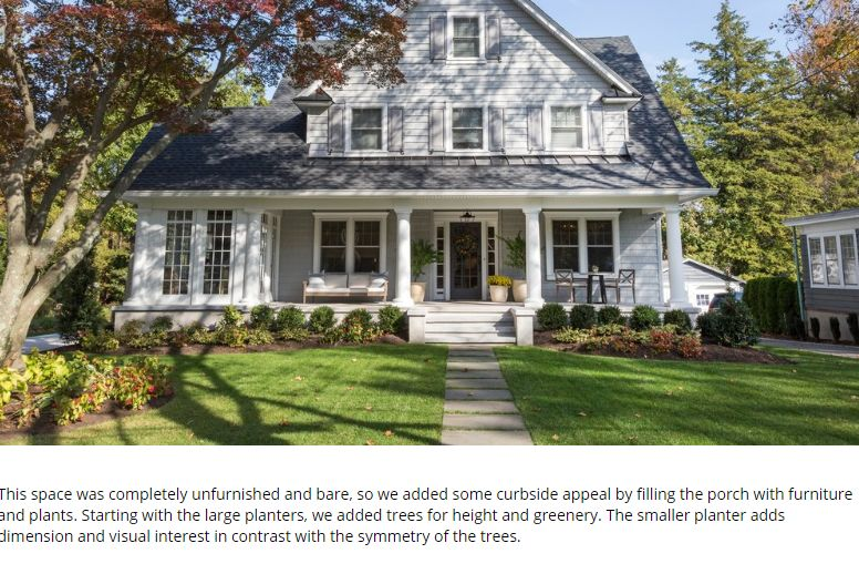 The designers, Shea and Syd, share how they made changes to the curb appeal of this home above.