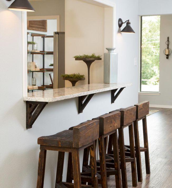 Rustic wood furniture via  HGTV