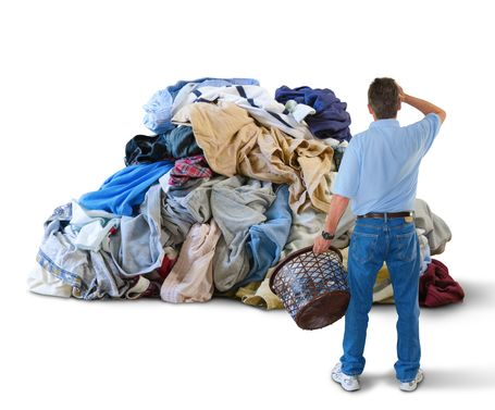 Way too much laundry to deal with all at once!!!           via  pilgrimdrycleaners