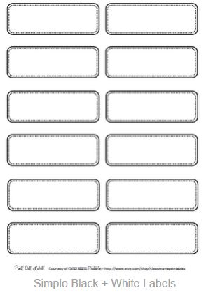 Go to  Clean Mama  to get these labels. When you click on the labels it enlarges them in a new screen. Right click to copy image; paste them into Word and print away on  full sheet labels.